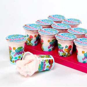 Candy Floss Tubs - Strawberry & Raspberry Flavours - 12pk