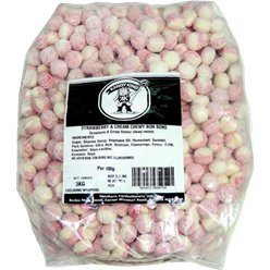 Strawberry & Cream Flavour Bonbons - 3kg