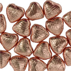 Copper Foil Chocolate Hearts - 20pk