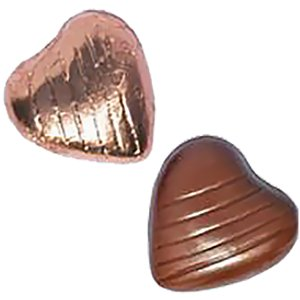 Copper Foil Chocolate Hearts