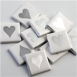 Silver Heart Chocolate Neapolitans