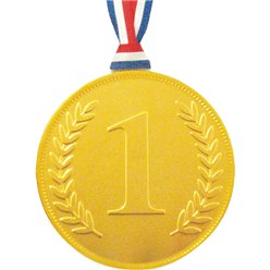 Gold Chocolate No. 1 Medal