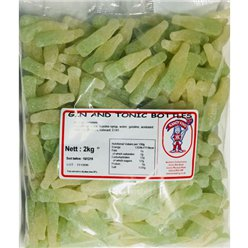 Gin & Tonic Gummy Bottles 2kg Bulk Bag