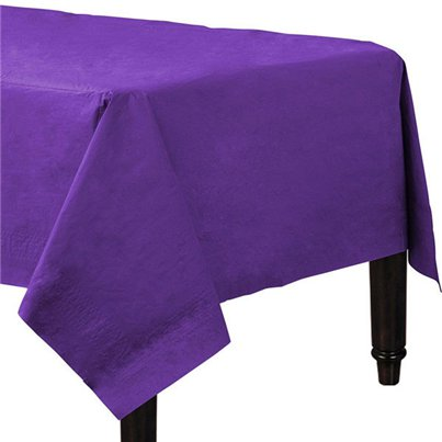 Purple Plain Tablecover - Paper - 90cm x 90cm
