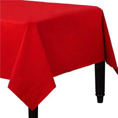 Red Paper Table Cover - 90cm x 90cm
