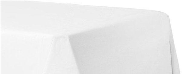 White Plain Tablecover - Paper - 90cm x 90cm