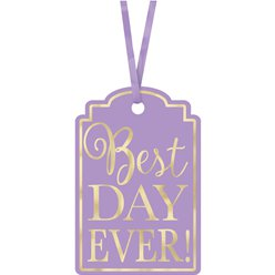 Lavender Best Day Ever Tags