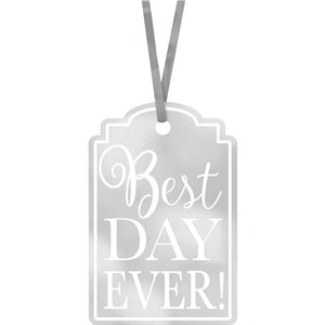 Silver Best Day Ever Tags