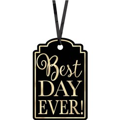 Black Best Day Ever Tags