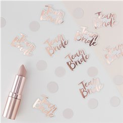 Team Bride Rose Gold Table Confetti - 14g Bag