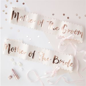 Team Bride Foiled 'Mother of the Bride & Groom' Sashes - 75cm