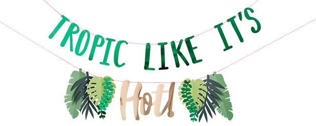 Tropic Like Its Hot 2-Tiered Banner - 2m