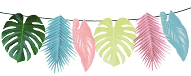 Tropical Multi Colour Palm Garland