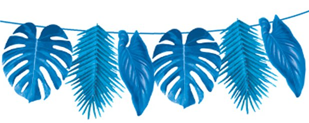 Tropical Blue Palm Garland