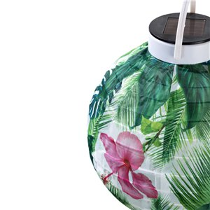 Tropical Fiesta Solar Powered Lantern - 7in Diameter