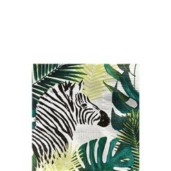Tropical Zebra Cocktail Napkin - 25cm