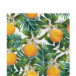 Tropical Fiesta Orange Napkins - 33cm