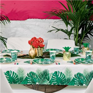 Tropical Fiesta Palm Paper Table Cover - 1.2m x 1.8m