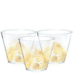 Tropical Leaf Plastic Tumblers - 266ml
