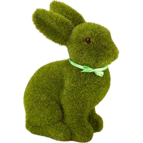 Green Grass Easter Bunny Decoration 16cm Party Delights