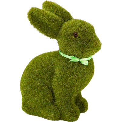 Green Grass Easter Bunny Decoration - 16cm