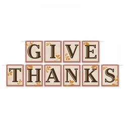 Give Thanks Letter Banner - 3.65m