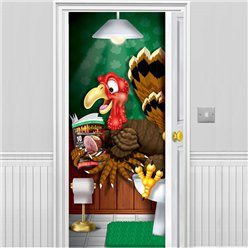 Thanksgiving Turkey Bathroom Door Banner - 1.5m