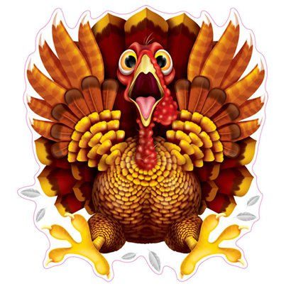 Crazy Turkey Window Cling