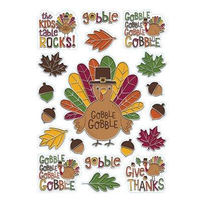 Gobble Gobble Thanksgiving Window Decoration