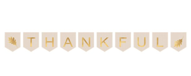 Thanksgiving 'Thankful' Canvas Bunting