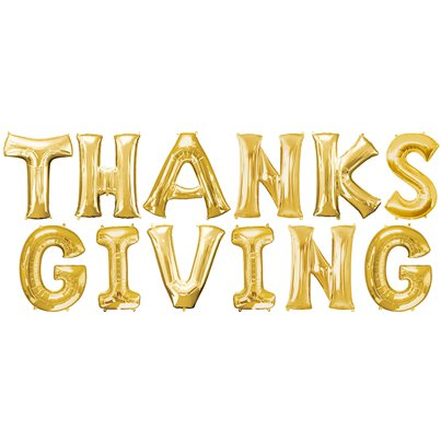 THANKSGIVING Gold Balloon Kit - 16""