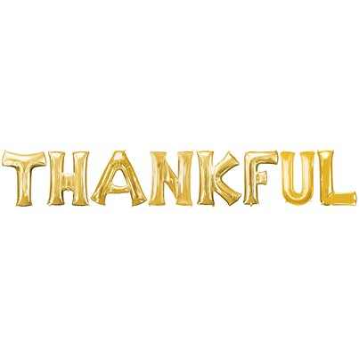 THANKFUL Gold Balloon Kit - 16""