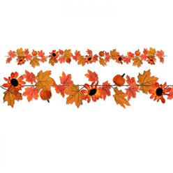Autumn Fall Leaf Fabric Garland - 1.8m