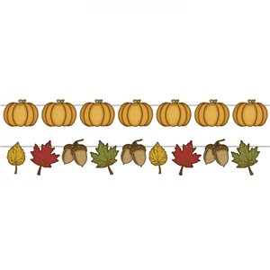 Rustic Autumn Fall Garland - 3.65m