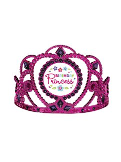 Pink & Teal Birthday Princess Tiara