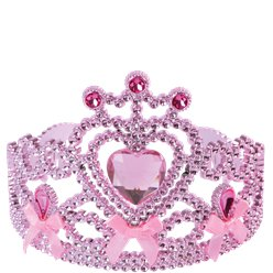 Pink Heart Tiara with Bows - Princess