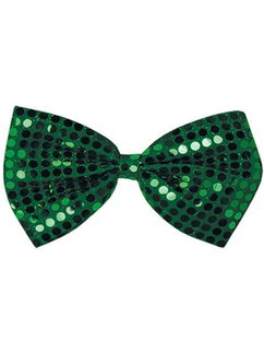 St Patrick's Day Green Sequin Bow Tie