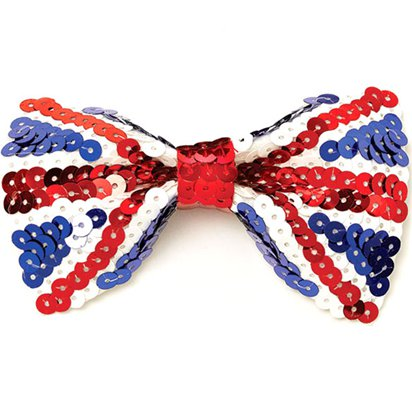 Union Jack Sequin Bow Tie - Royal Wedding Street Party  front
