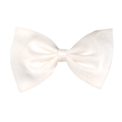 White Bow Tie - Fancy Dress Accessory front