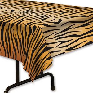Tiger Print Tablecover - 1.37m x 2.7m