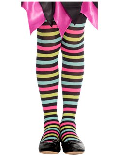 Miss Match Witch Tights - 6-8 years