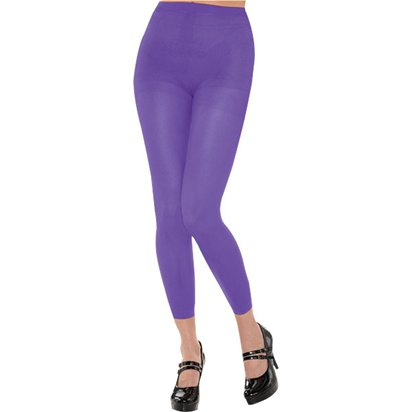 Purple Footless Tights - Women's Tights UK 10-14 front
