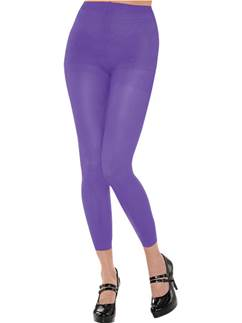 Purple Footless Tights - Adult Size 10-14