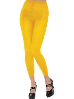 Yellow Footless Tights - Adult One Size