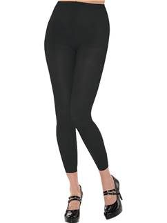 Black Footless Tights - Adult Size 10-14