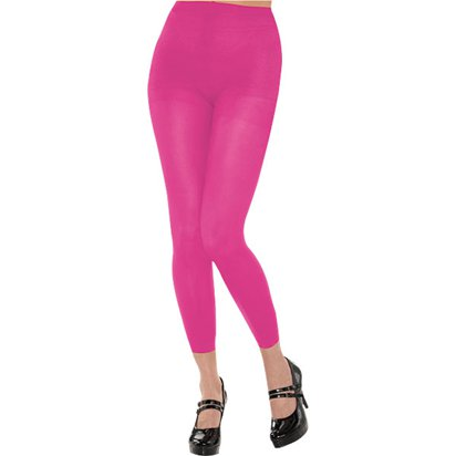Pink Footless Tights - Women's Tights UK 10-14 front