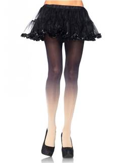 Ombre Black & Nude Tights - Adult One Size