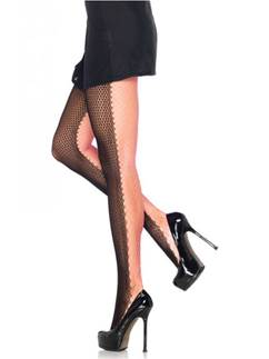 Black & Pink Two Tone Tights - Adult One Size