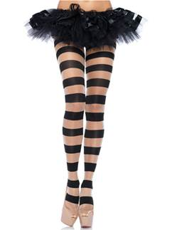 Black Striped Tights - Adult One Size