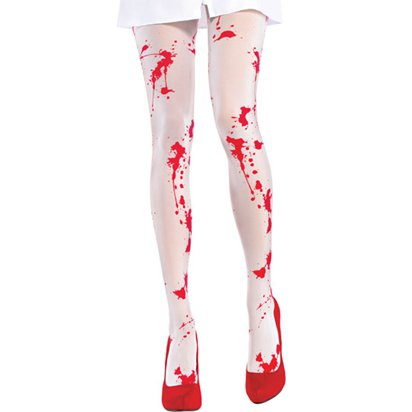 Bloody Nurse Halloween Tights - Women's Tights One Size front